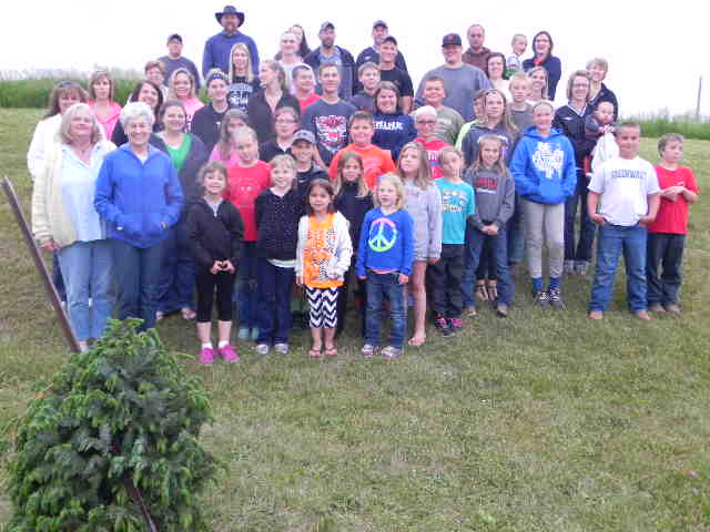 WILD FLOWER GARDEN CLUB AND THE DARKE COUNTY 4H BEEF CLUB JOIN FORCES TO PLANT TREES AT THE DARKE COUNTY ANIMAL SHELTER
